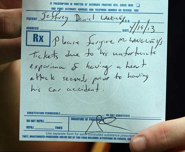 an example of a fake doctors note